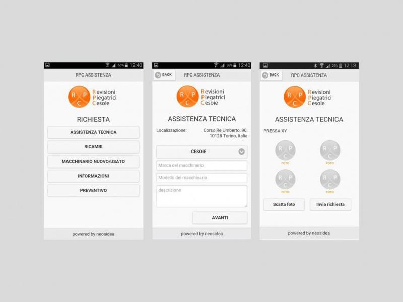 Nuova App Assistenza RPC