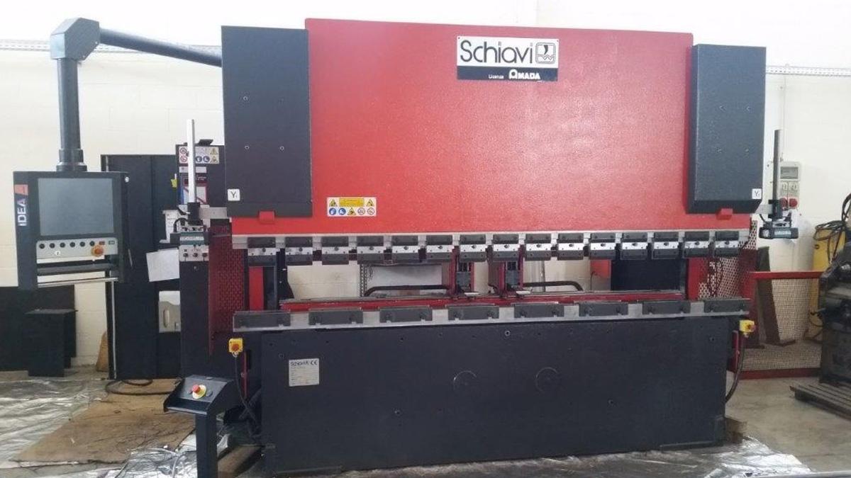 SCHIAVI Pressa piegatrice HFB 100 ton da 3mt 8 assi con Laser DSP